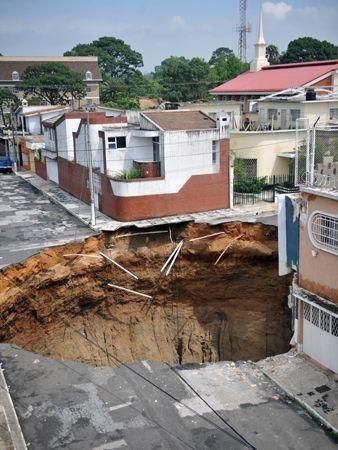 Storm causes giant sinkhole in Guatemala