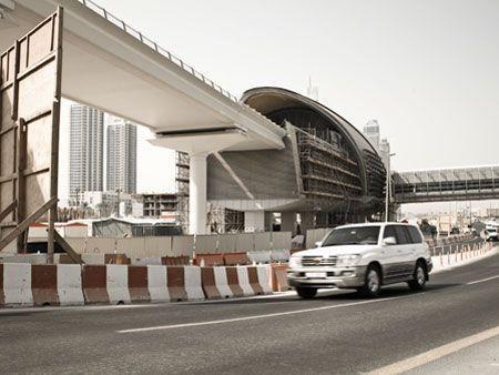 Burj Dubai Metro station