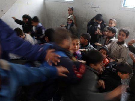 School re-opens for children in Gaza