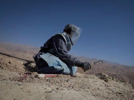 Mine sweeping in Afghanistan