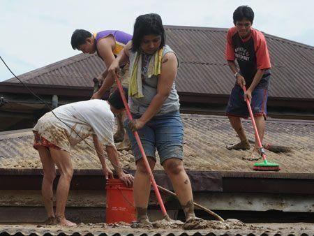 Flood destruction in Manila