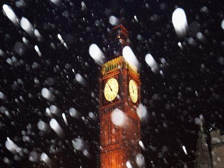 Early snowfall as UK winter arrives
