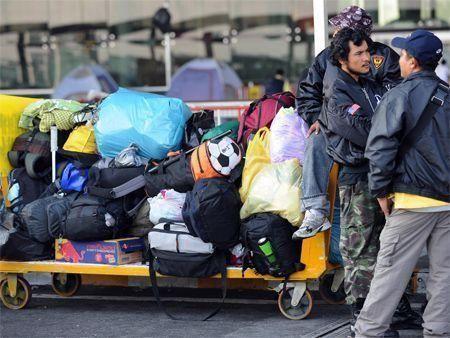 Bangkok airport back to business