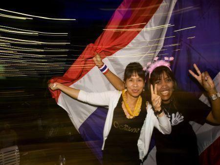Thai protesters celebrate