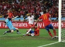 Resilient Swiss shock World Cup favourites Spain