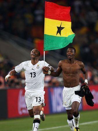 Germany celebrate 1-0 win over Ghana