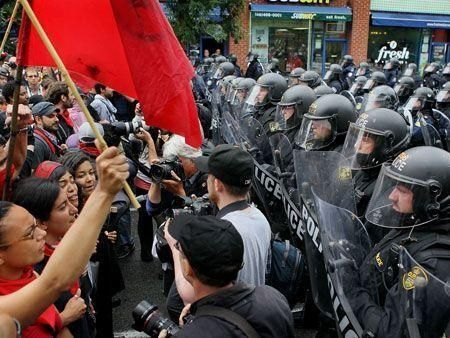 Demonstrators protest at G20 Summit