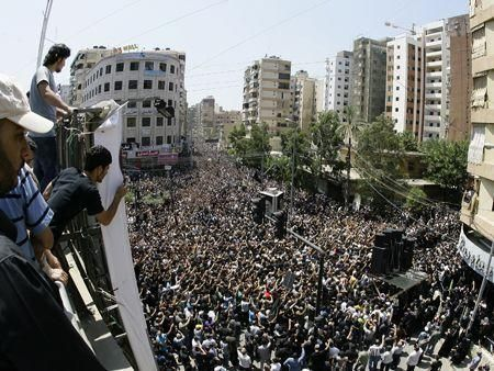 Thousands gather for Lebanese cleric funeral