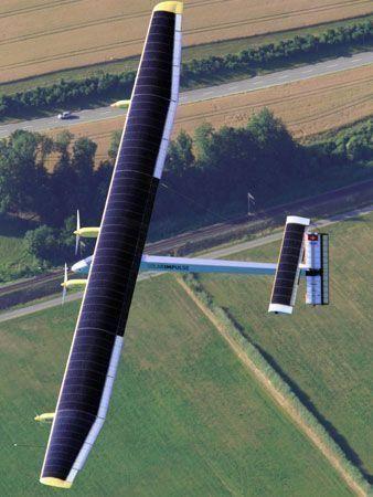 Solar plane completes 24-hr test flight
