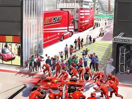 How Abu Dhabi's Ferrari World will look