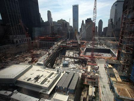 Construction at Ground Zero continues