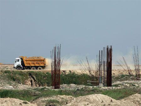 Indian Grand Prix construction underway