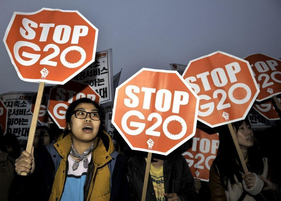 Protests continue ahead of Seoul G20 summit