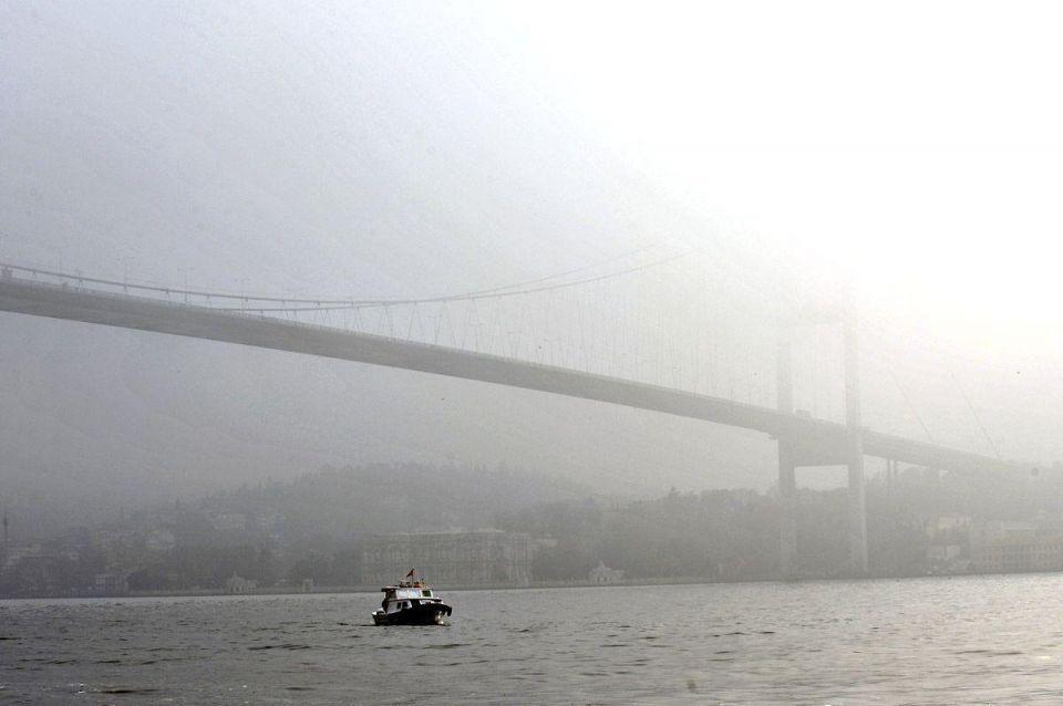 Misty haze over Turkey's Golden Horn