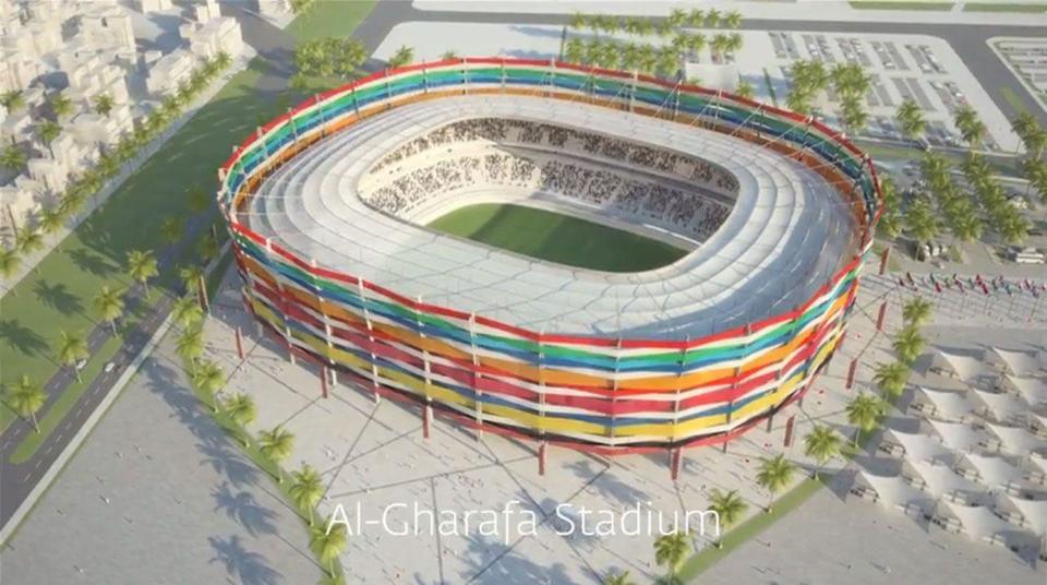 Qatar World Cup 2022: Inside the Al Gharafa football stadium