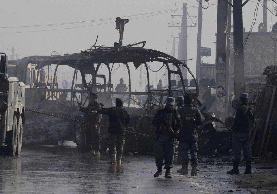 Suicide bomber attack on Afghan army bus kills five