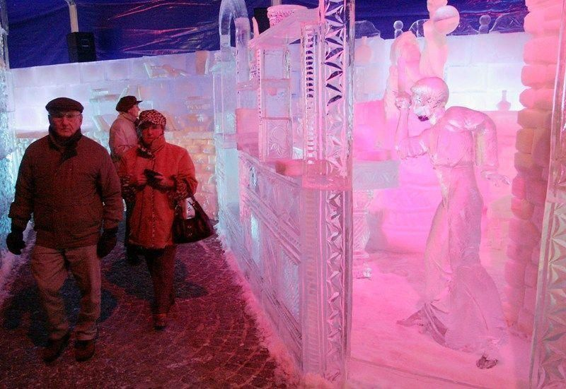 Belgium's snow and ice sculpture festival