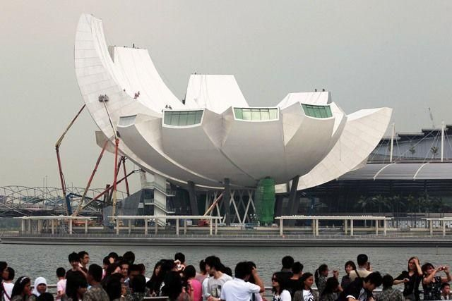 Singapore's innovative ArtScience Museum nears completion