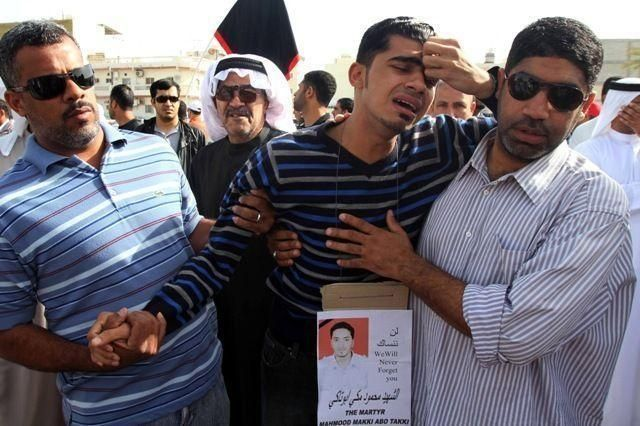 Funerals and injured protesters mark the streets of Bahrain