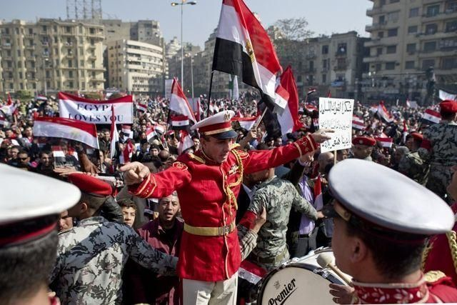Egyptians hold 'Victory March' to mark Mubarak's fall from power