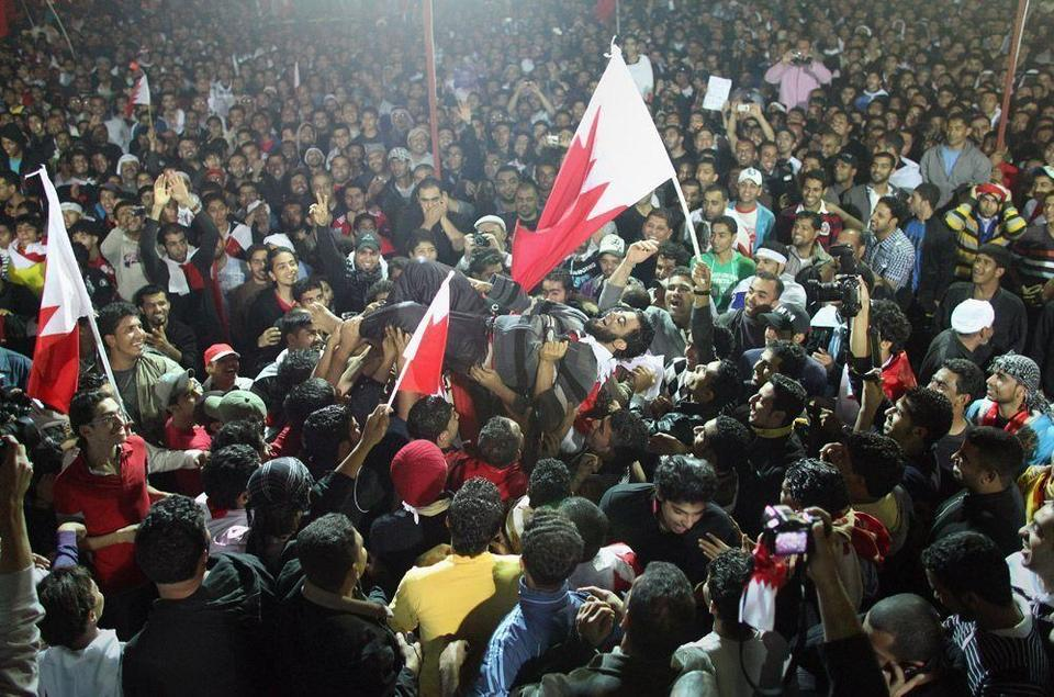 Thousands protest in Bahrain