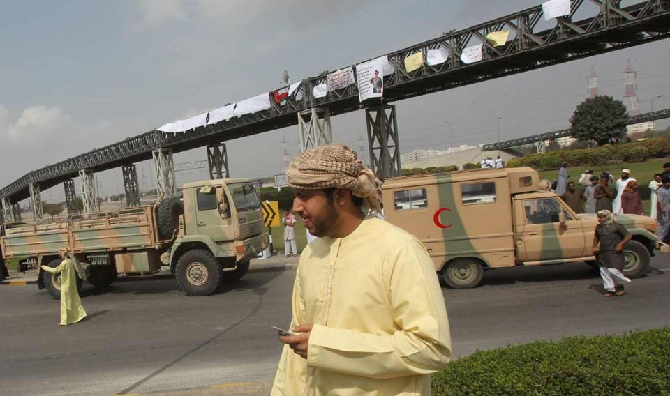 Oman sees counter demonstrations in Muscat
