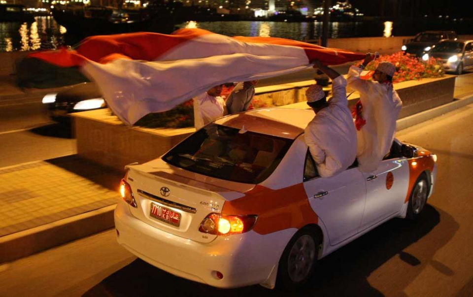 Omanis protesters camp outside country's consultative council