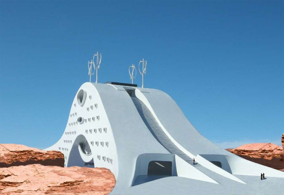Revealed: the planned hotel that can bridge canyons