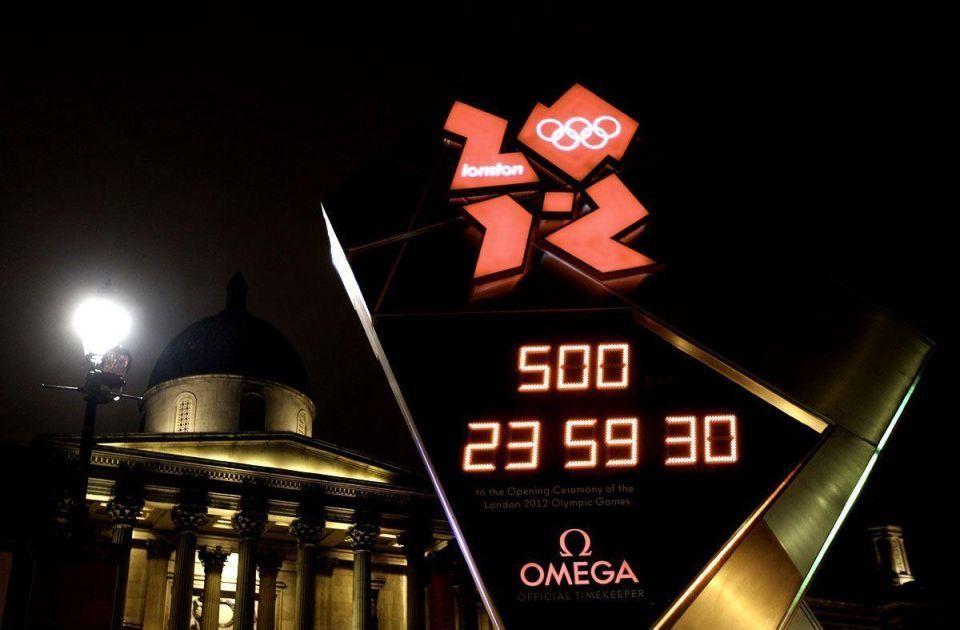 London 2012 countdown clock stops