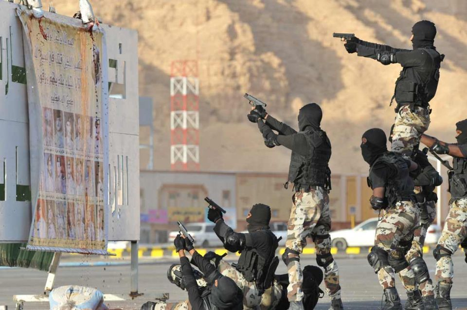 Saudi anti-terror special unit displays its skills