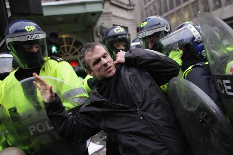 Rioters and UK police clash after anti-cuts rally