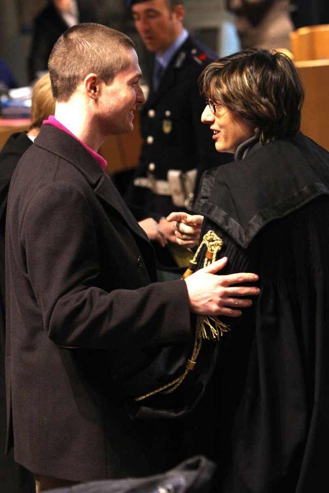 Amanda Knox arrives in court in Kercher killing case