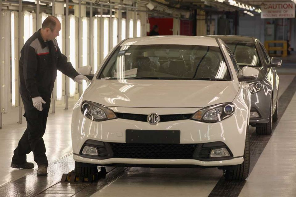 Production begins on new MG6 sports fastback
