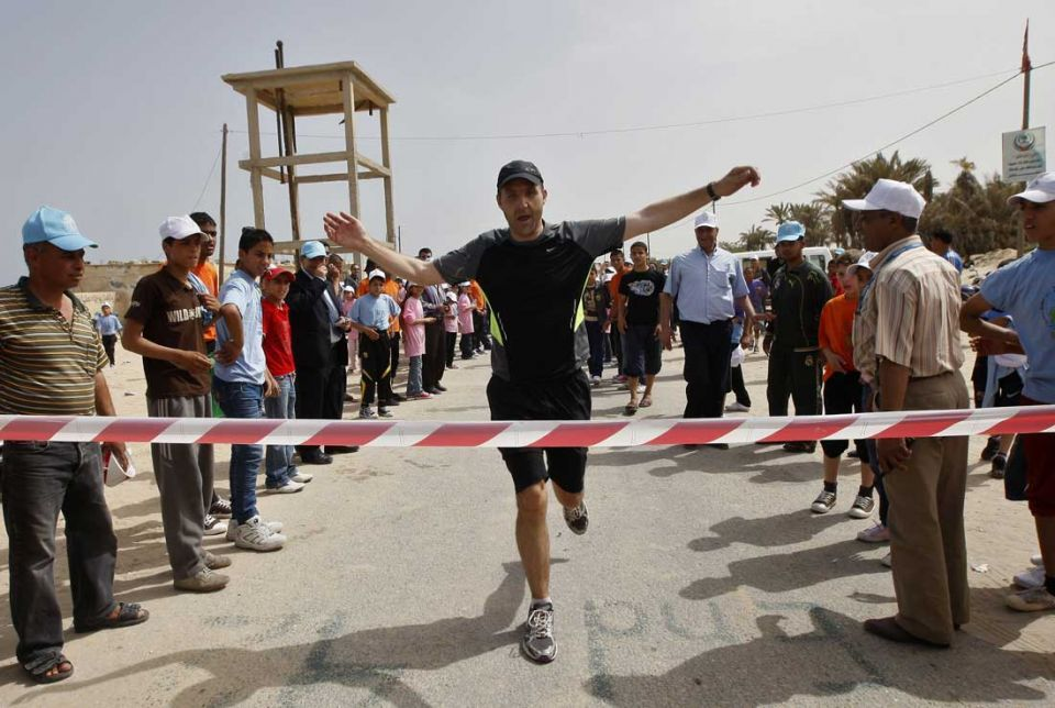 All the action from Gaza Strip's first marathon race