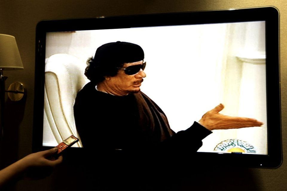 Libyan TV shows first film of Gaddafi in two weeks