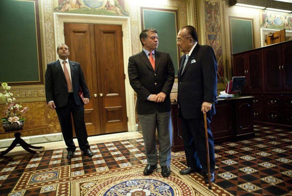 Jordan's King Abdullah meets Barack Obama