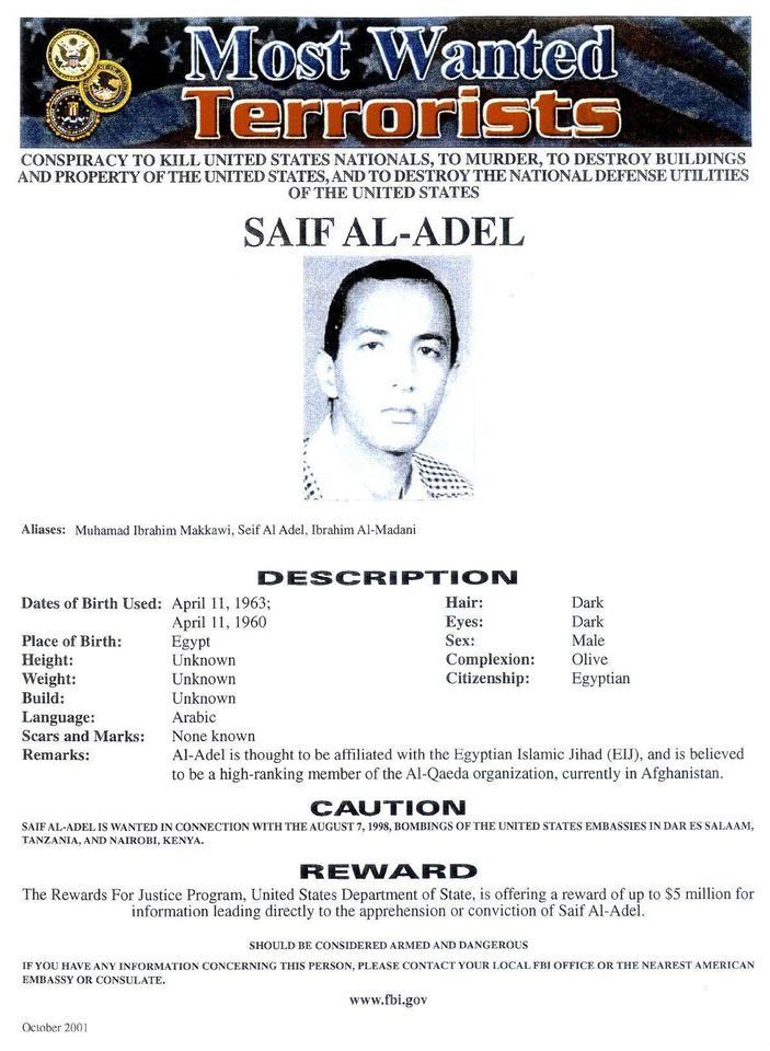 Al Qaeda names Adel as interim chief