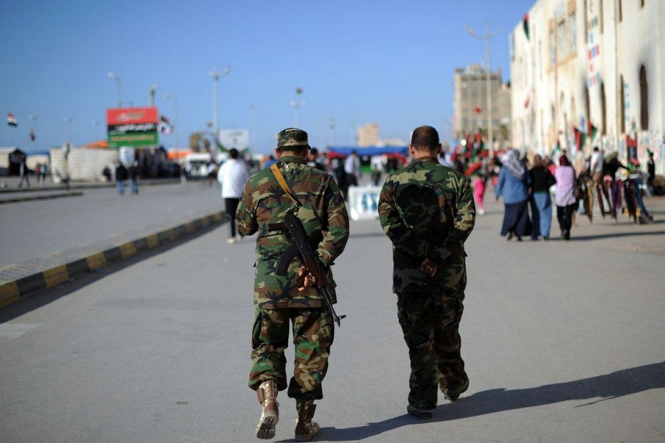 Libyan opposition supporters protest in Benghazi