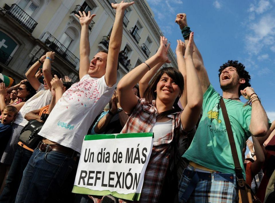 Angry Spaniards protest against unemployment, austerity measures