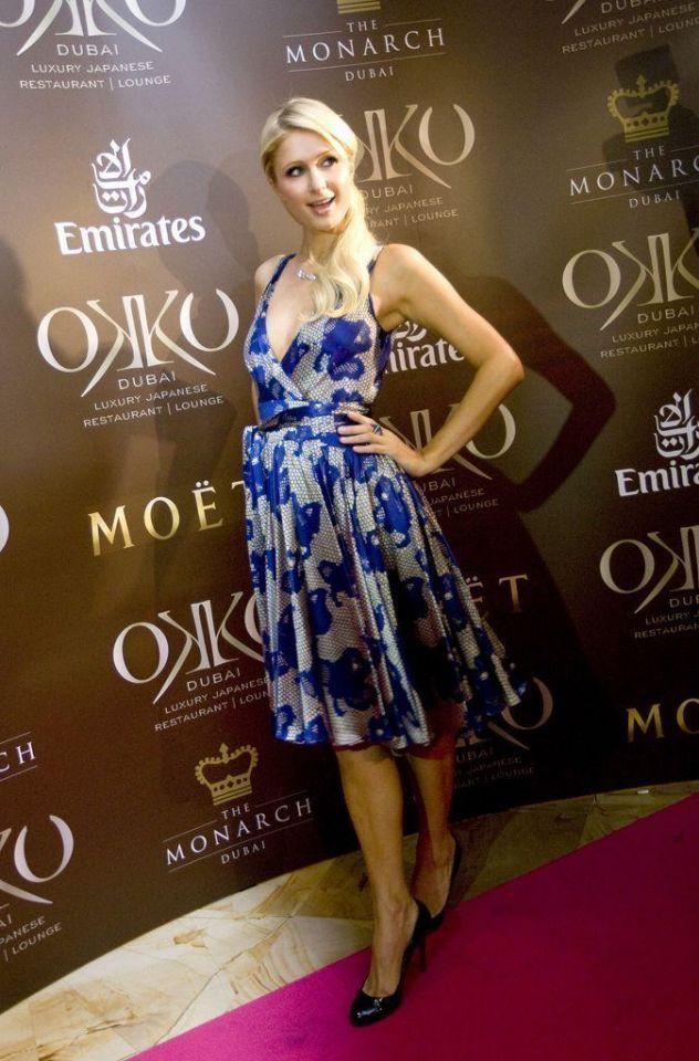 Paris Hilton walks the red carpet at Dubai restaurant bash