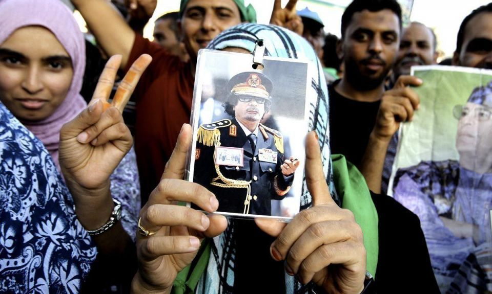 Lockerbie convict joins rally to back Gaddafi