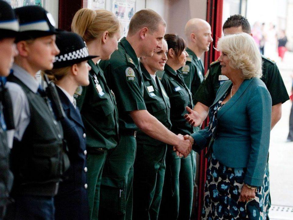 Prince Charles and Camilla visit London in wake of riots