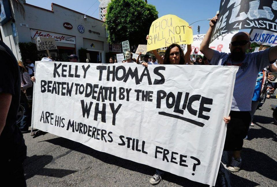 Protests in US after homeless man beaten to death