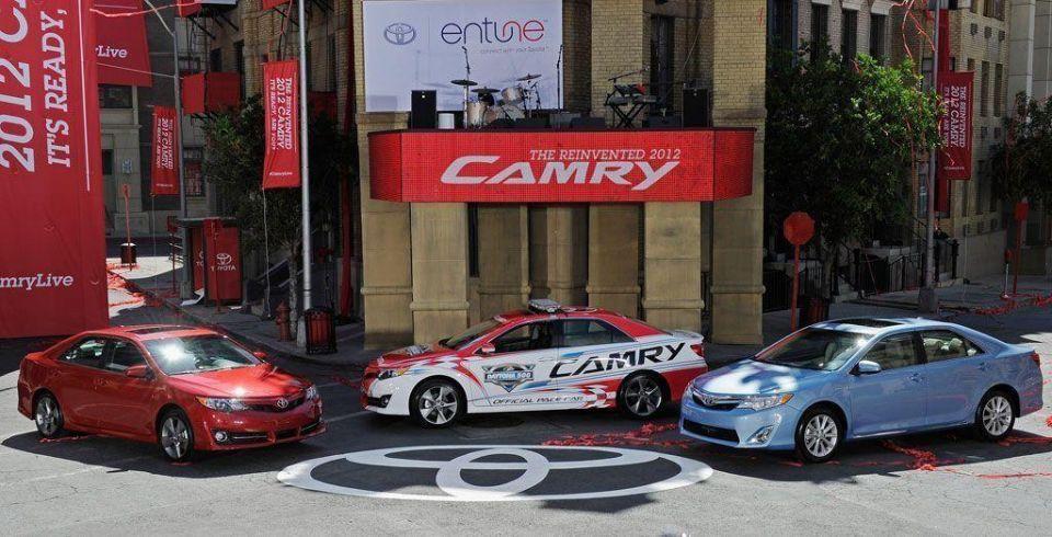 Toyota unveils 2012 Camry at Paramount Studios in California
