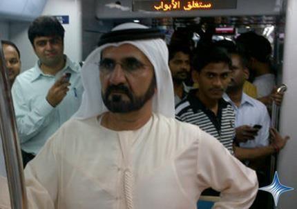 Sheikh Mohammed takes surprise ride on Dubai Metro