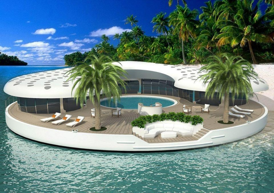 First images of Dubai's 'Ome floating island concept