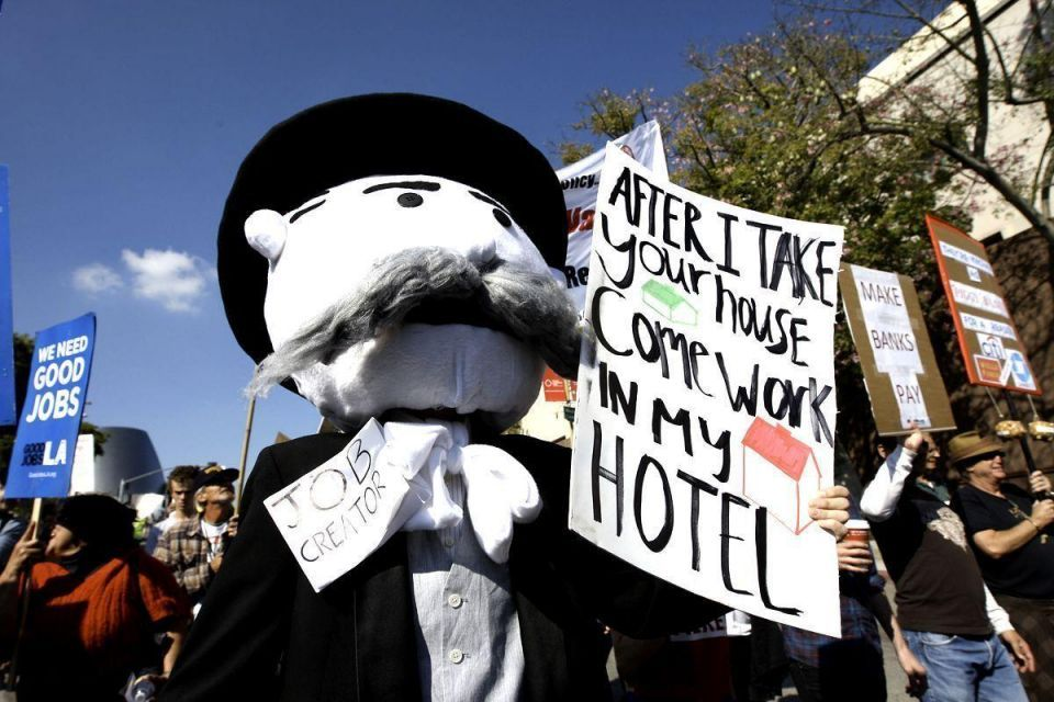 Los Angeles takes bank rage to the streets in mass rally