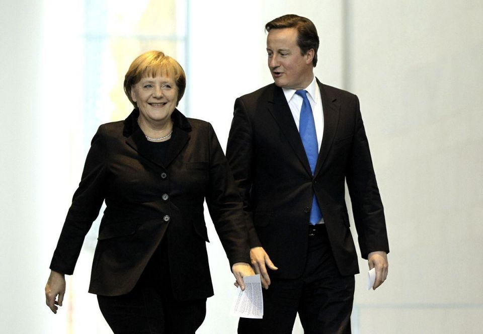 Markets jittery as Merkel and Cameron reveal rift over euro crisis