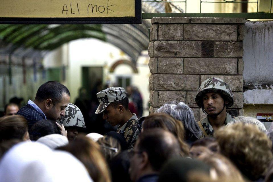 Voters queue in Egypt's first post-Mubarak polls