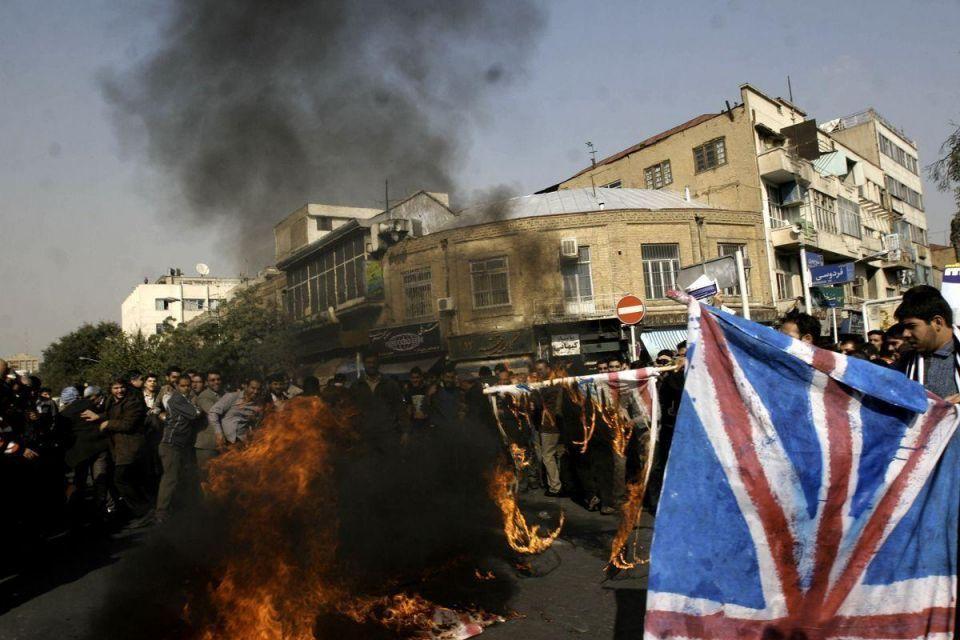 Iranians storm British Embassy, hurl petrol bombs